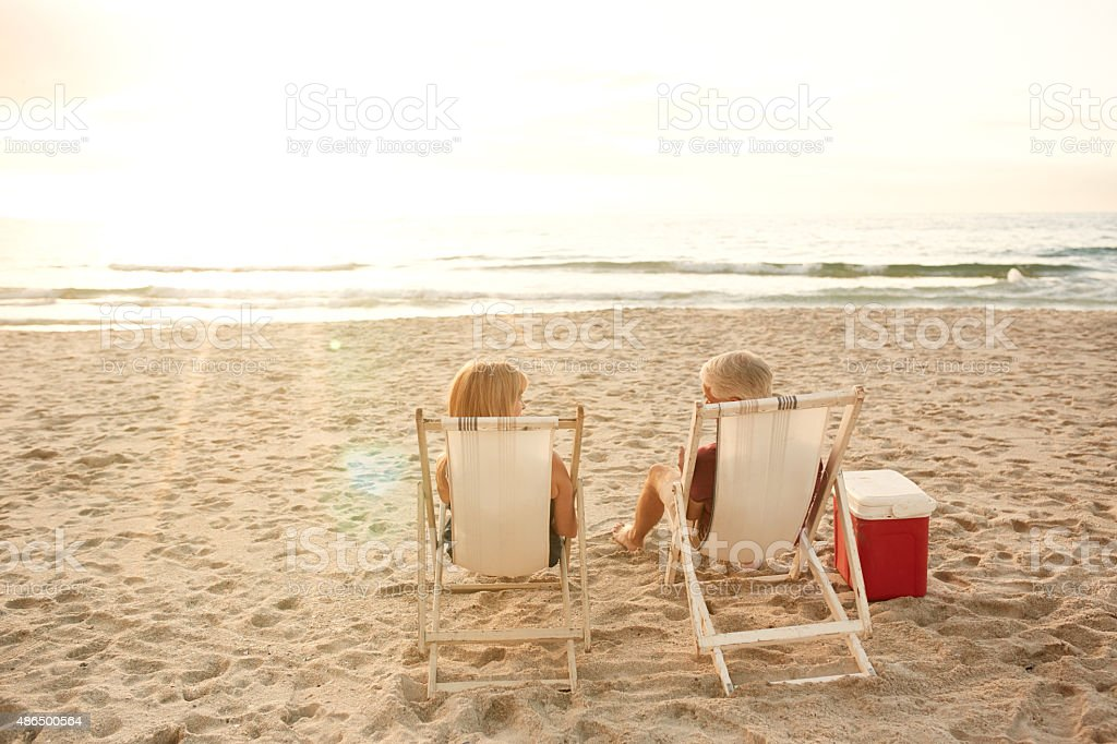 Lazy seaside days with your love stock photo
