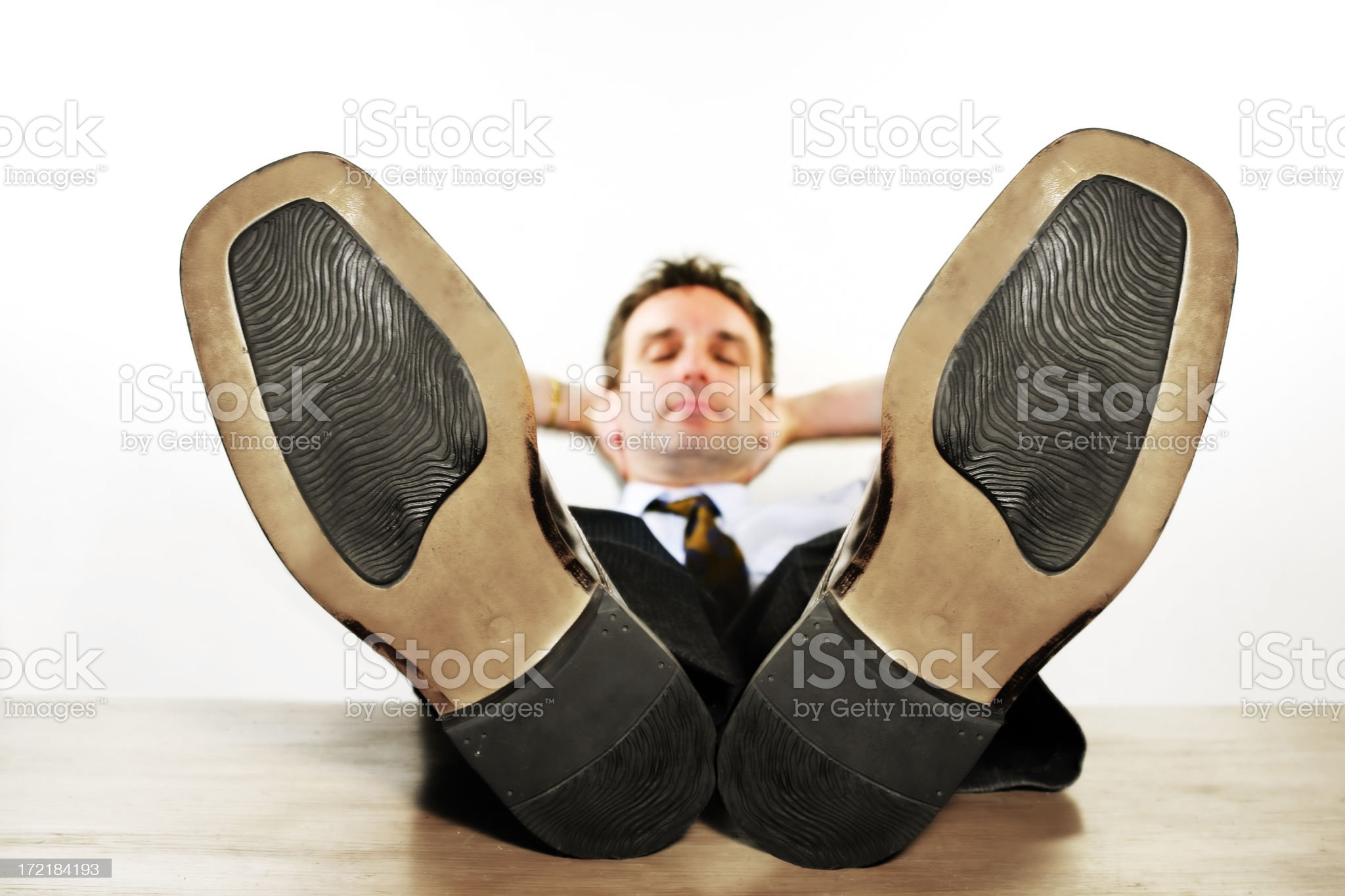 Lazy worker royalty-free stock photo