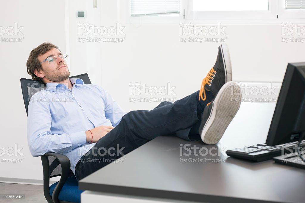 Lazy worker stock photo