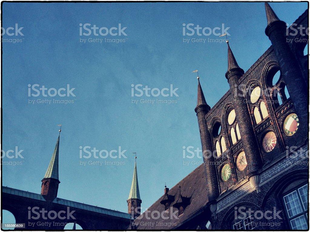 Lübeck Old Rathaus stock photo