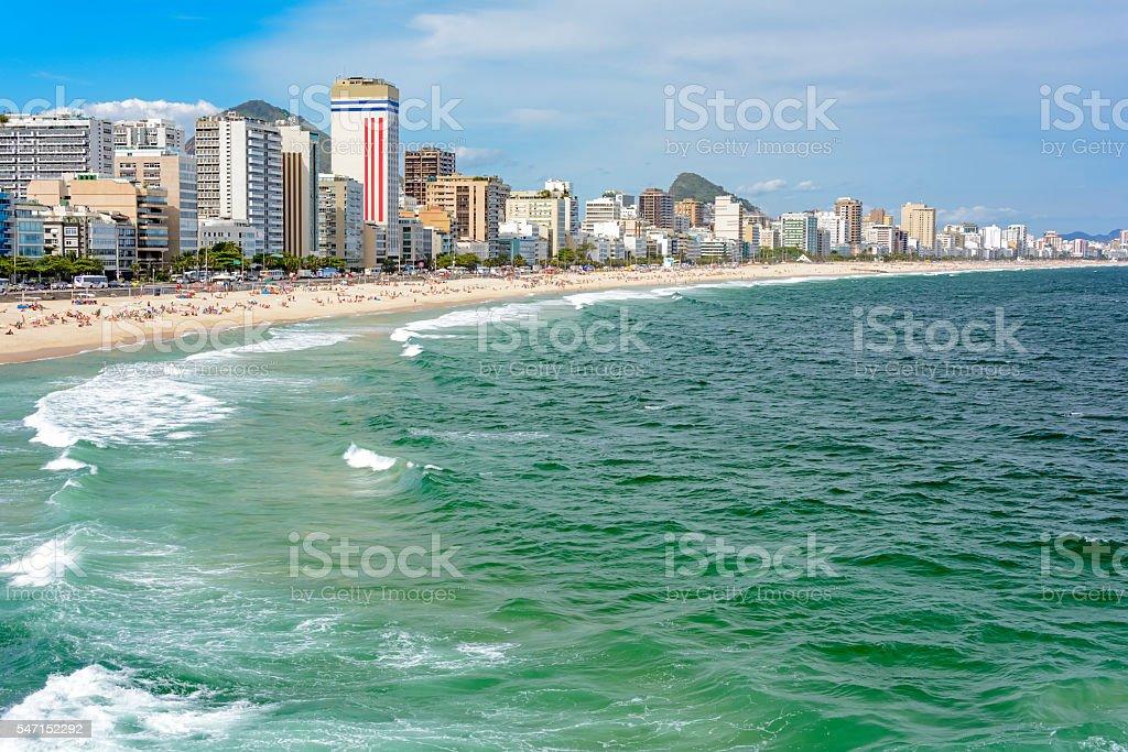 Lblon beach stock photo
