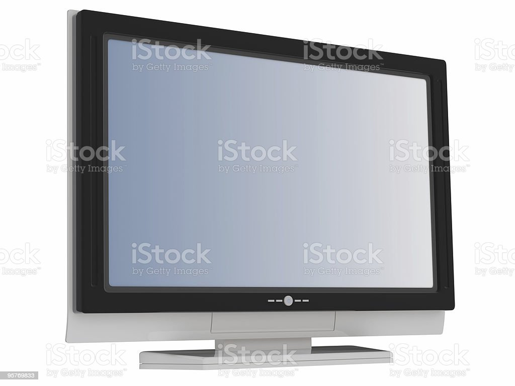 lcd flat tv , perspective stock photo