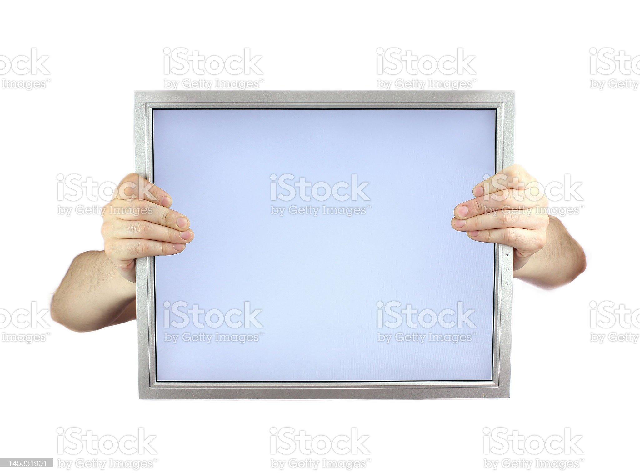 lcd monitor royalty-free stock photo