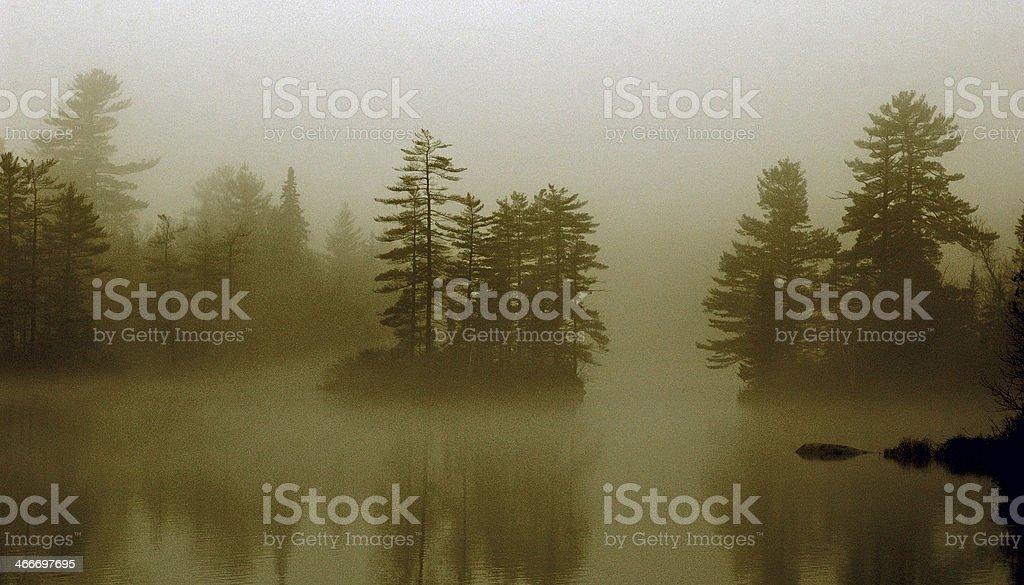 Le brouillard sur les ?les royalty-free stock photo