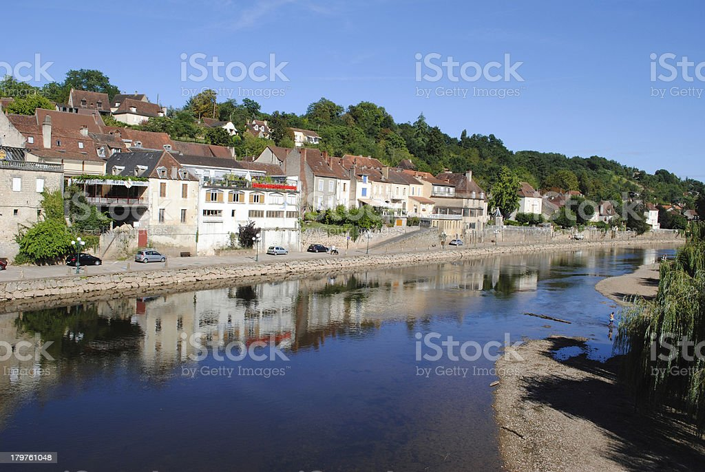 Le Bugue in France royalty-free stock photo