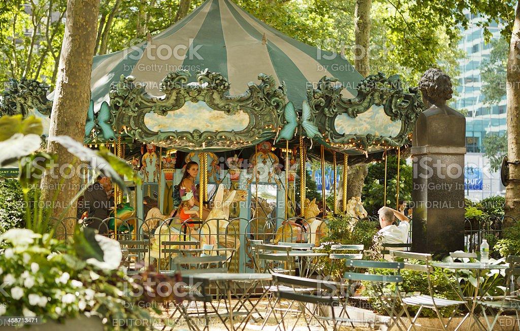 Le Carrousel Bryant Park Carousel New York City stock photo