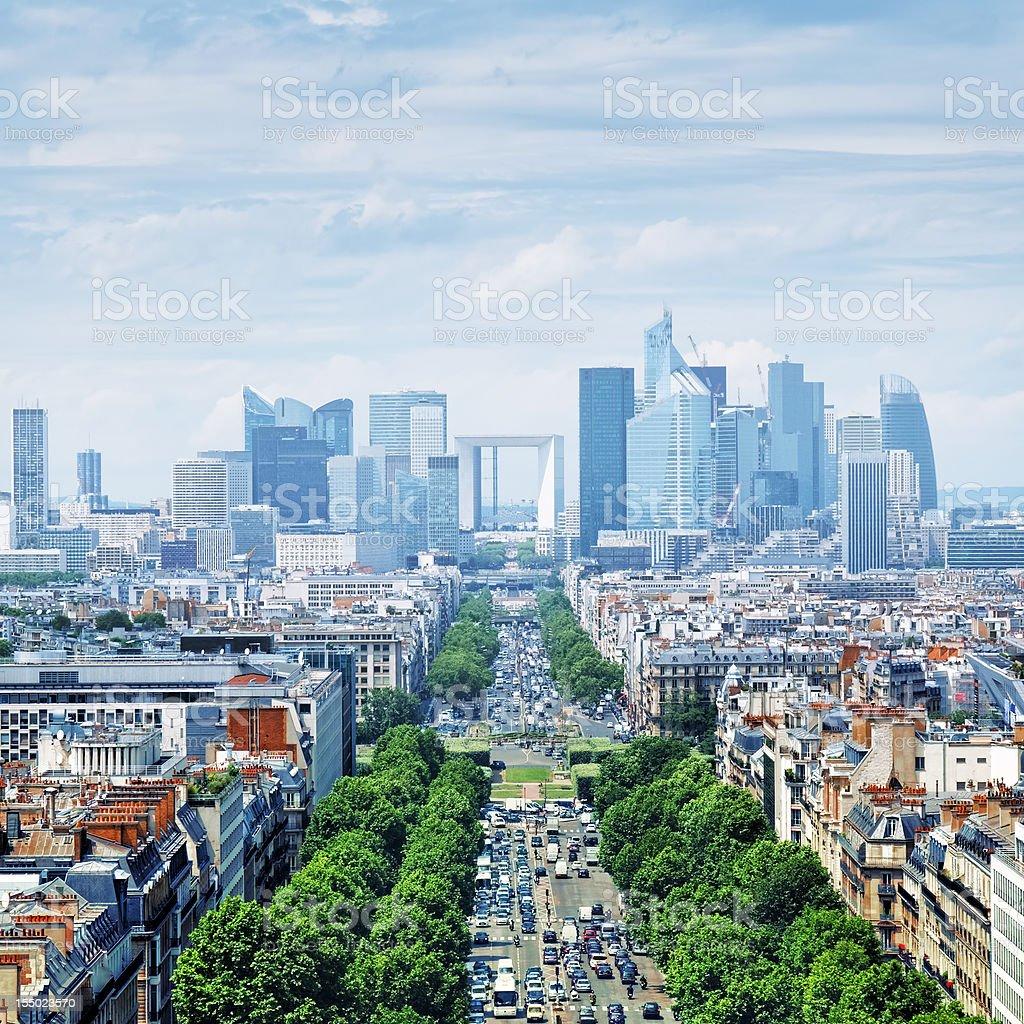 Le Defence, Paris - France stock photo