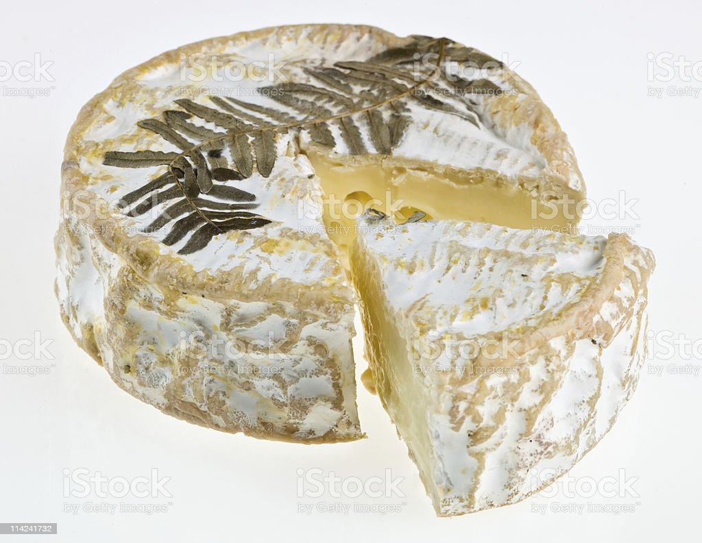 Le Fougerus Brie Cheese royalty-free stock photo