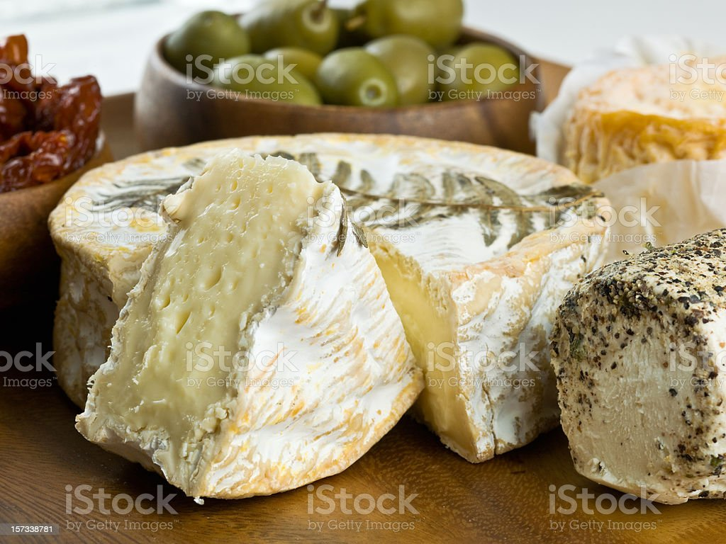 Le Fougerus Brie Cheese stock photo