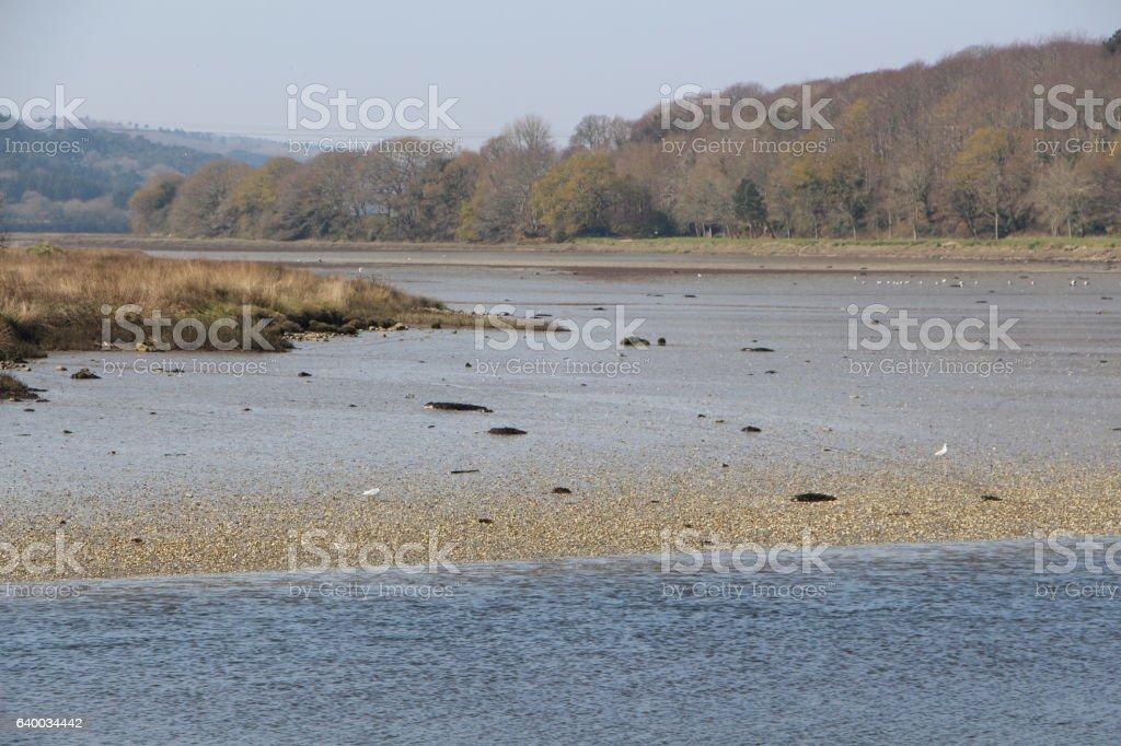 Le Goyen river in Pont-Croix stock photo