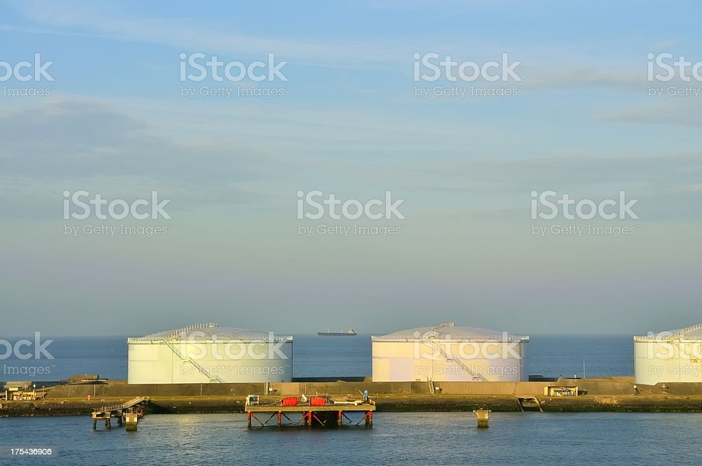 Le Havre Oil Tanks royalty-free stock photo
