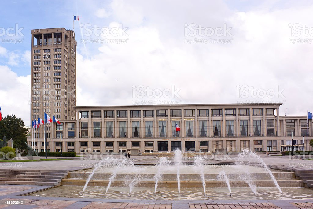 Le Havre Town Council stock photo