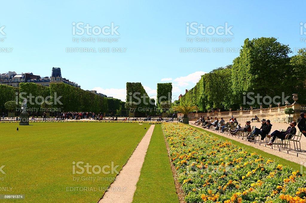 Le Jardin du Lexembourg stock photo