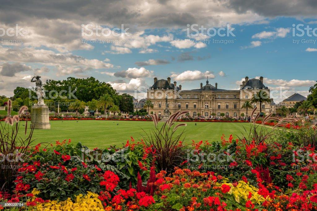 Le Jardin du Luxembourg en Fleurs stock photo
