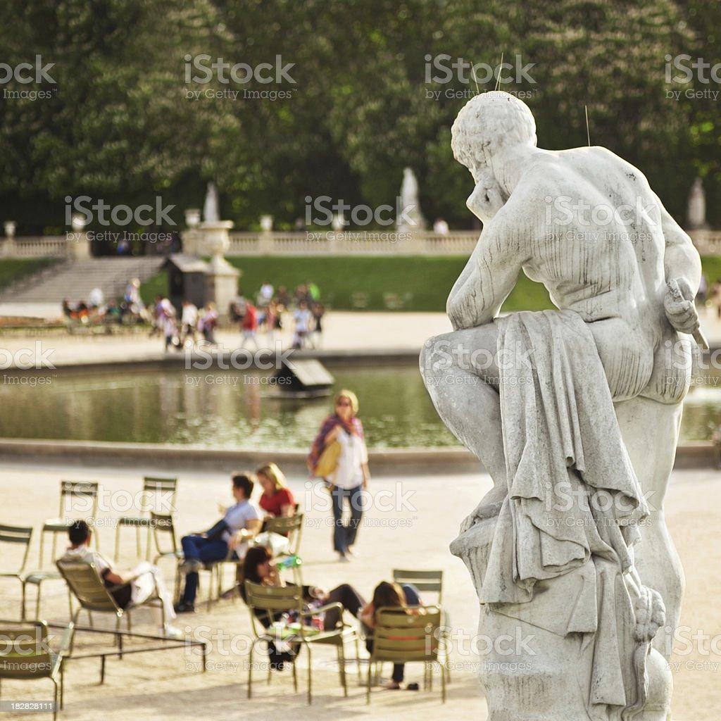 Le Jardin du Luxembourg, Paris royalty-free stock photo