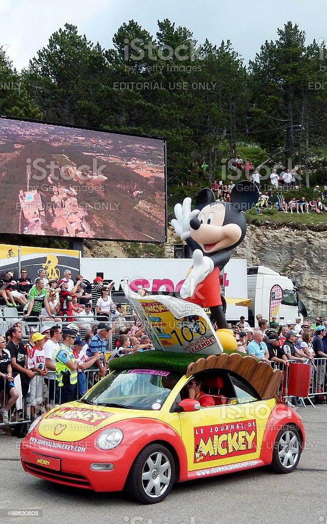 Le Journal de Mickey bei der Tour de France Caravan Lizenzfreies stock-foto