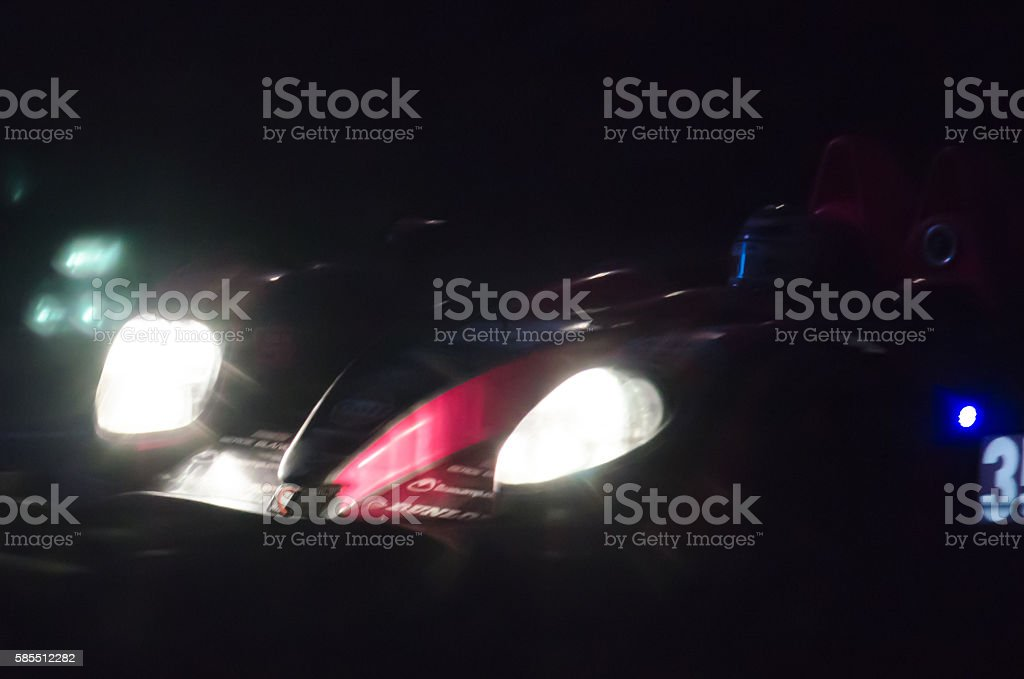 Le Mans race by night stock photo