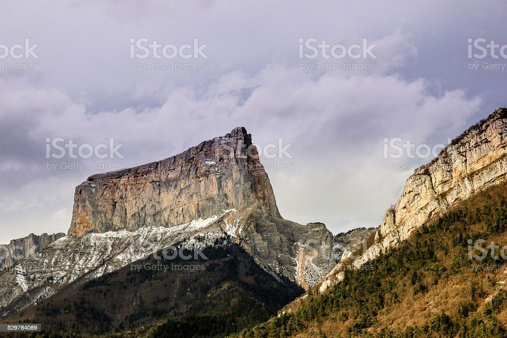 Le Mont Aiguille en France stock photo