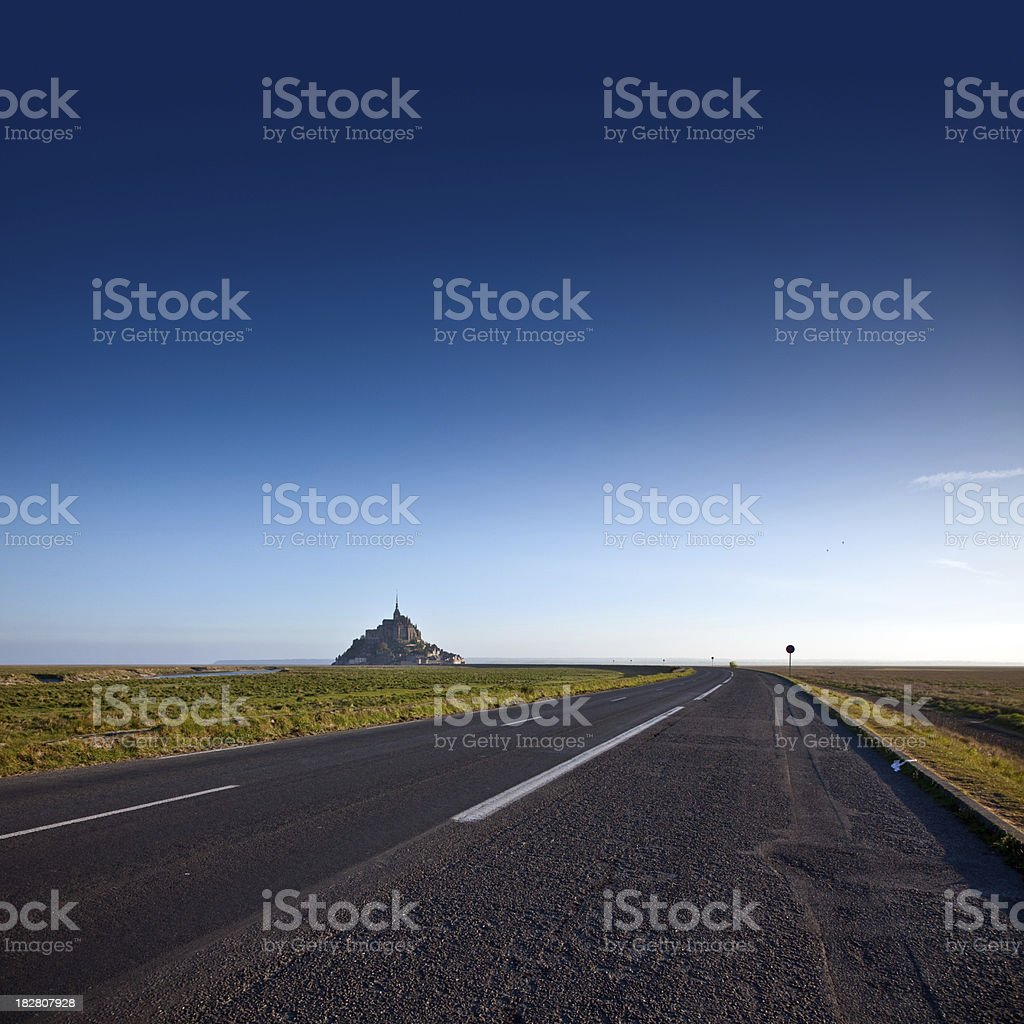 Le Mont Saint-Michel in the Morning royalty-free stock photo