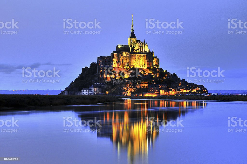 Le Mont St. Michel royalty-free stock photo