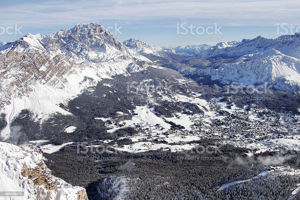 le montagne di cortina d'Ampezzo royalty-free stock photo