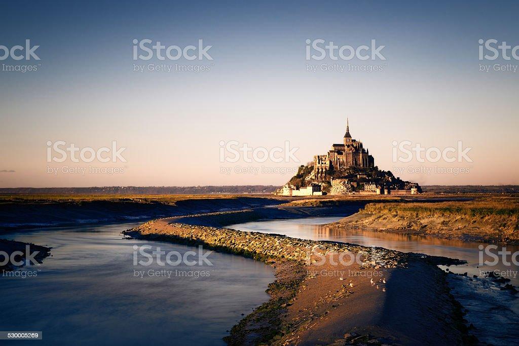 Le Mont-Saint Michel stock photo