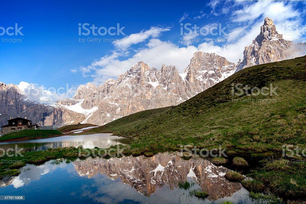 Le Pale di San Martino stock photo