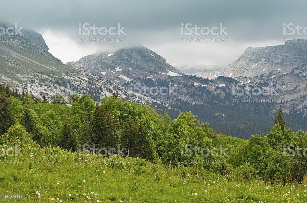 Le Parc Naturel Régional du Vercors, France royalty-free stock photo