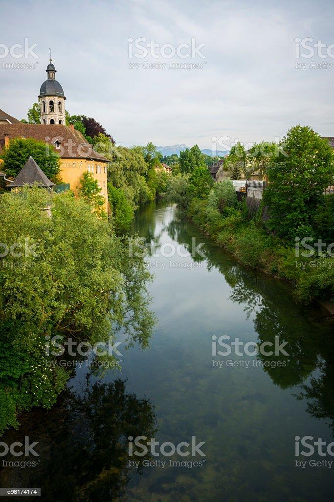 Le Pont-de-Beauvoisin in southeastern France stock photo