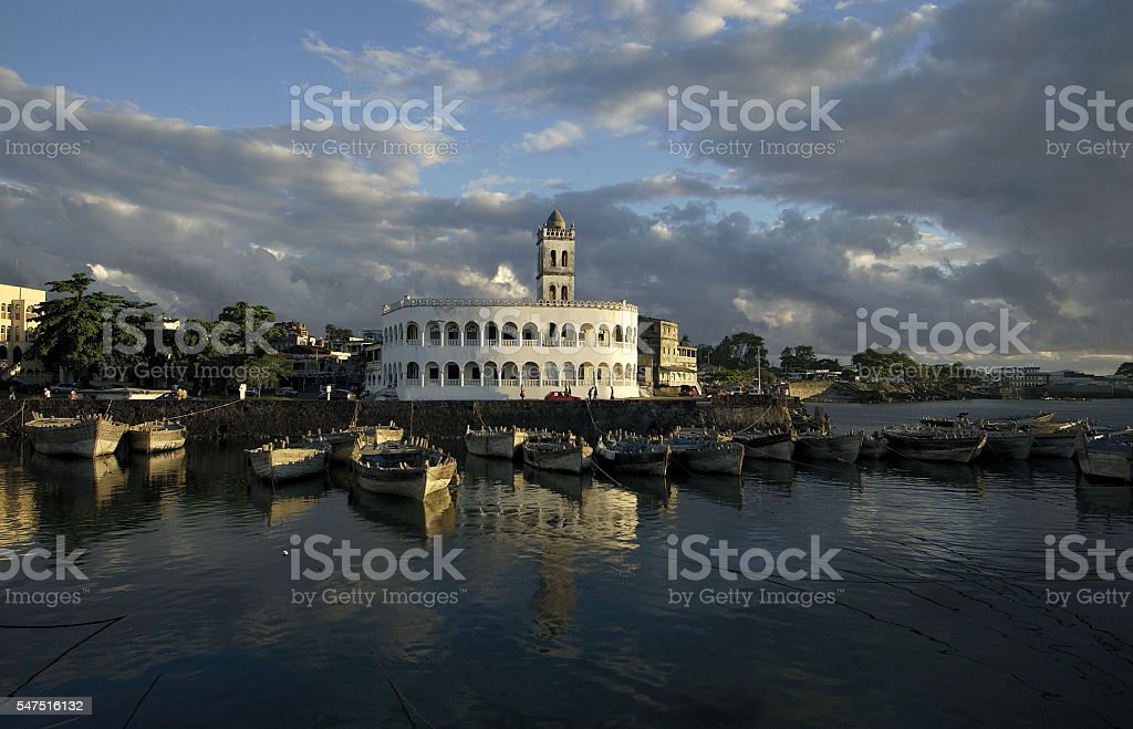 Le port aux boutres, Moroni, Grande Comore, Comores stock photo