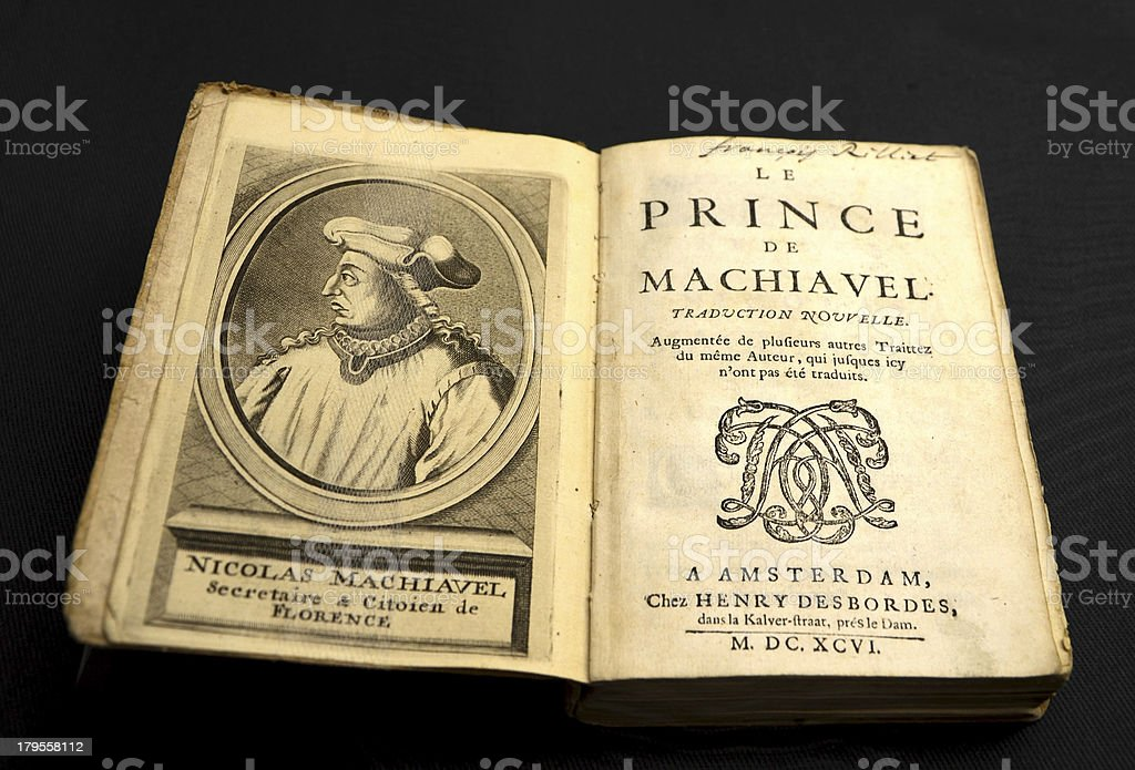 Le Prince de Machiavel royalty-free stock photo