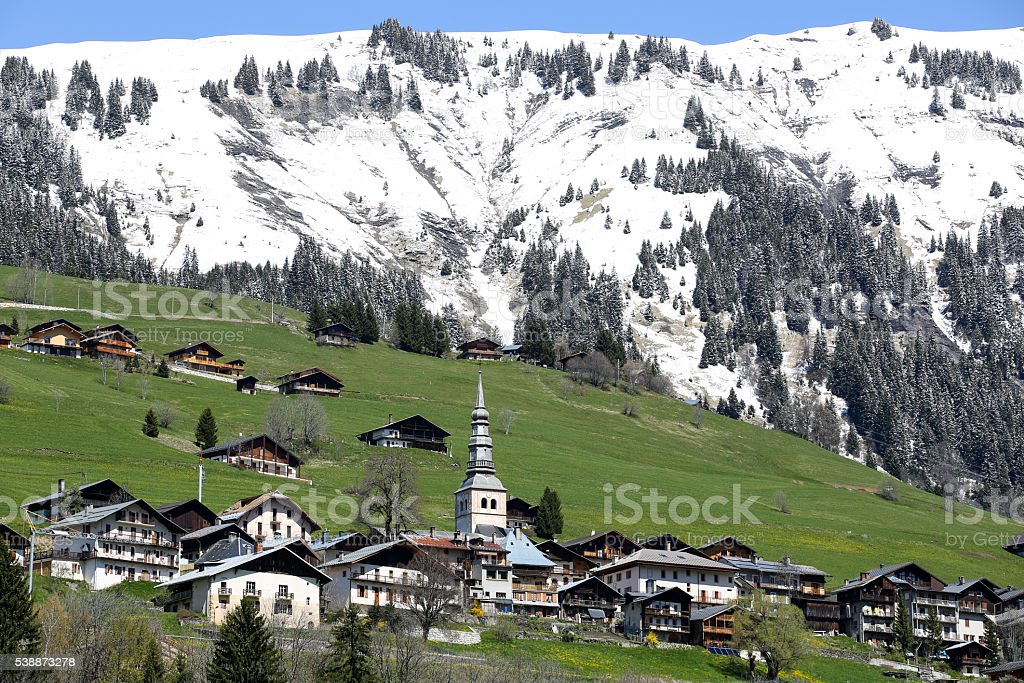 le printemps dans les Alpes France stock photo