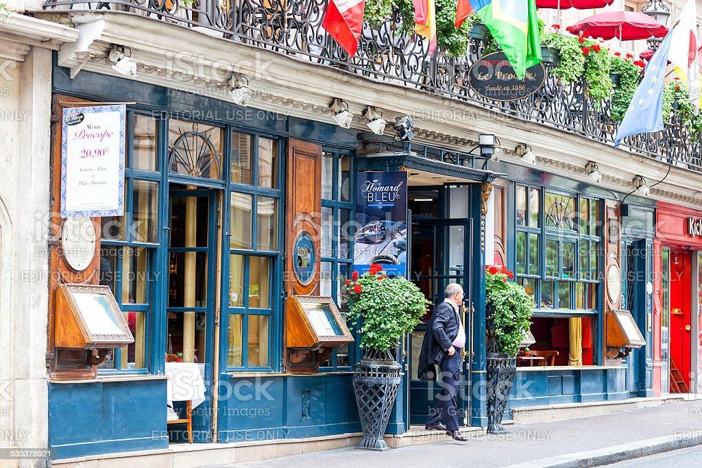 Le Procope Restaurant in Paris, France stock photo