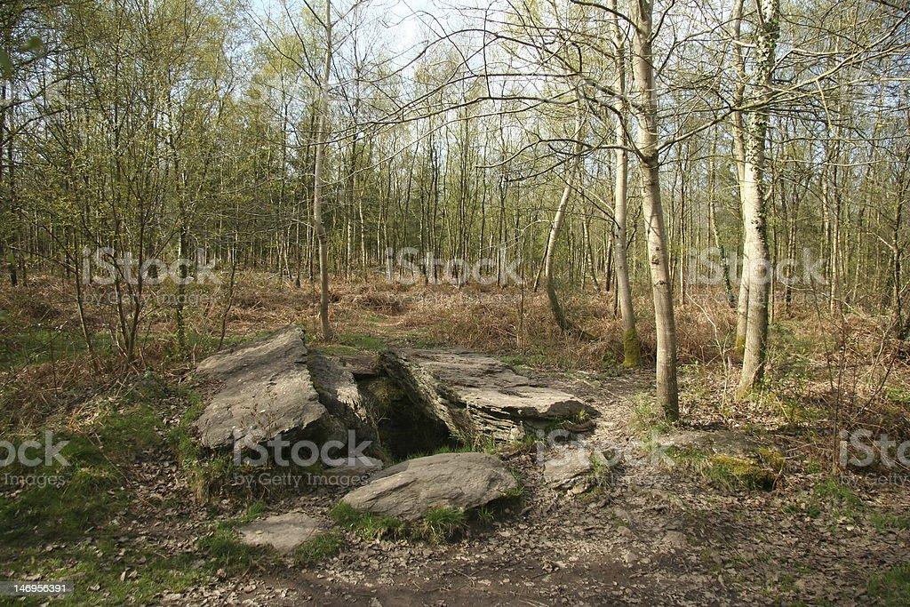 Le Tombeau des Geants (Giants Tomb) stock photo