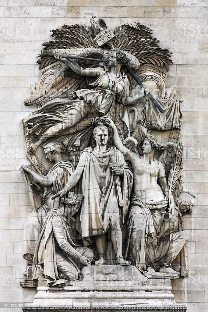 Le Triomphe de 1810, Arc de Triomphe, Paris stock photo