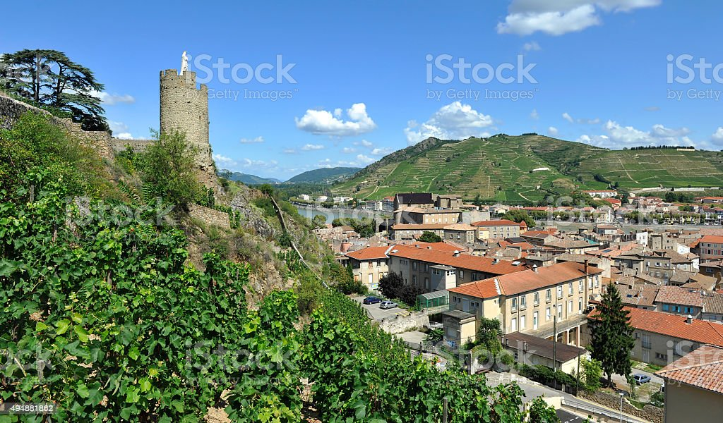 Le Virgin Mary of the Tower in Tournon-sur-Rhône stock photo