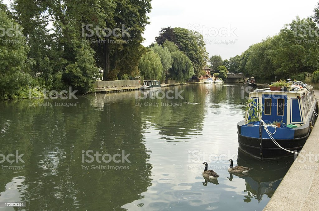 Lea River stock photo