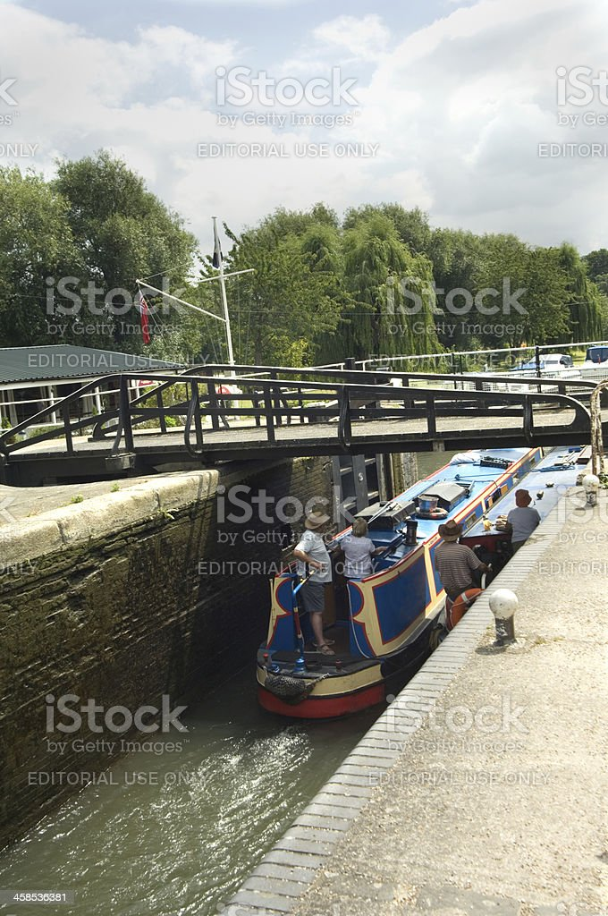 Lea River royalty-free stock photo
