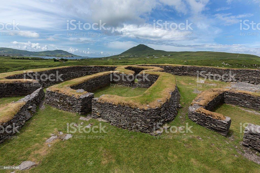 Leacanabuile Stone Fort - Cahirsiveen - Ireland stock photo