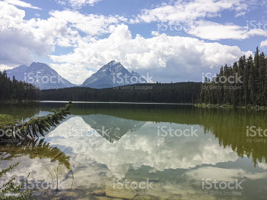 Leach Lake,  Jasper National Park stock photo