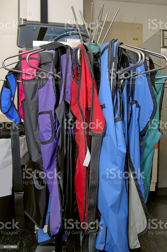 Lead Aprons for X-ray royalty-free stock photo