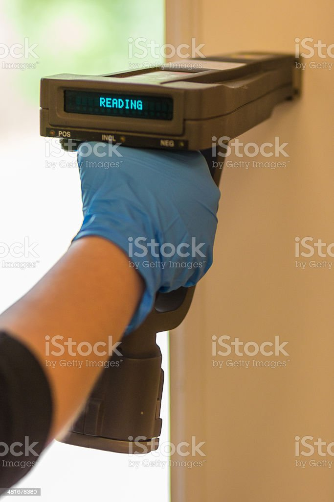 XRF Lead Based Paint Inspection stock photo