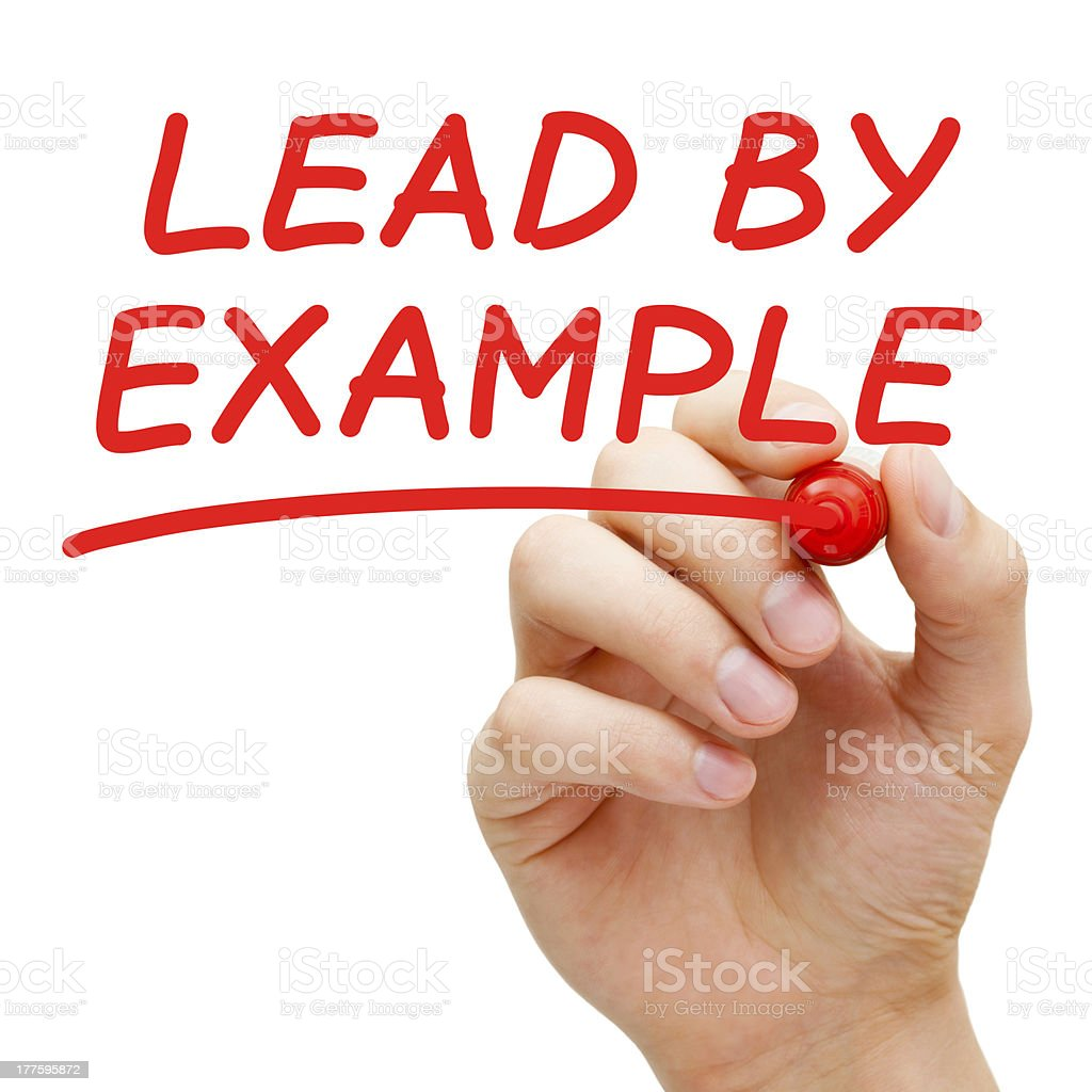 Lead By Example stock photo