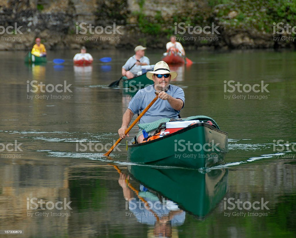 Lead Canoe stock photo