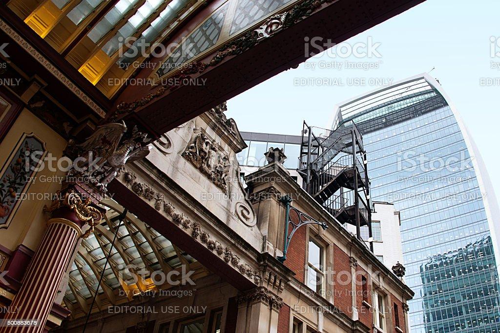 Leadenhall Market in London, UK stock photo