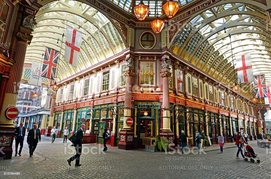 Leadenhall Market in London UK stock photo