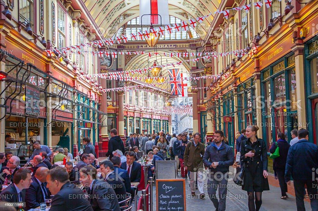 Leadenhall Market in the City of London stock photo