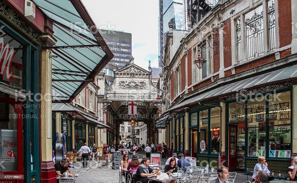 Leadenhall Market, London stock photo