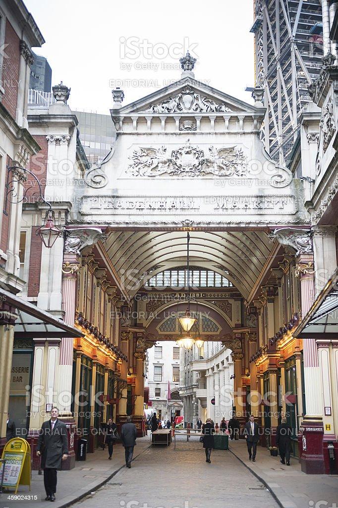 Leadenhall Market, London, UK stock photo