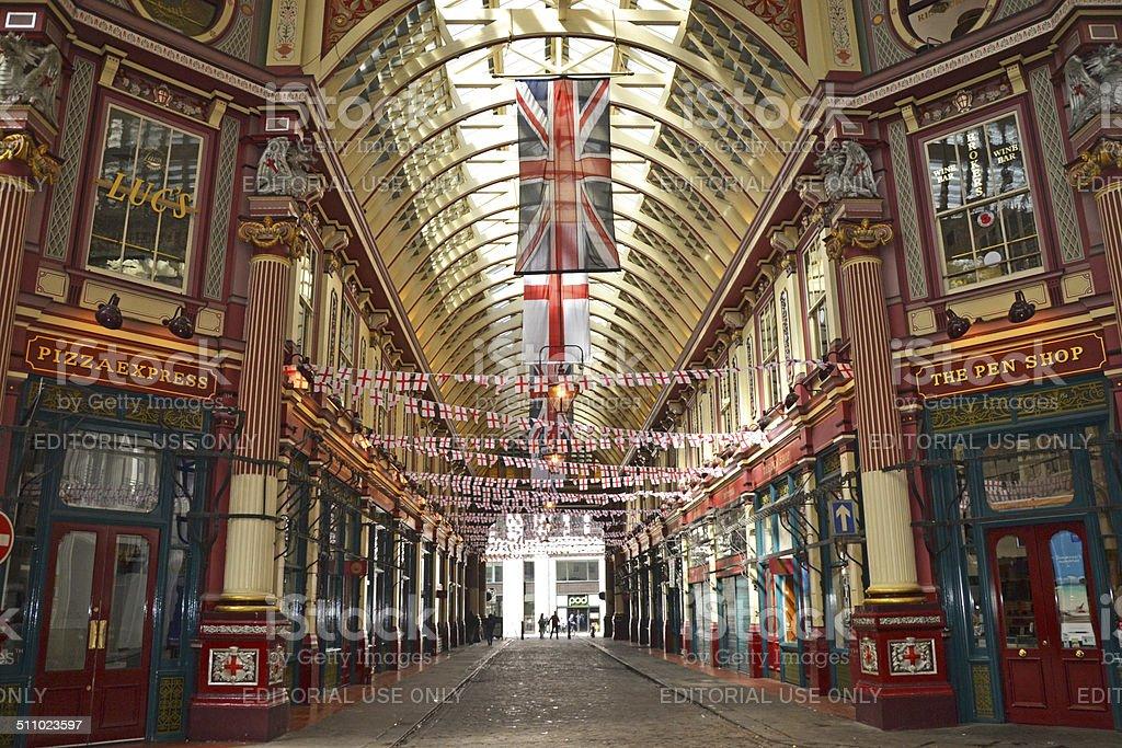 Leadenhall Market stock photo